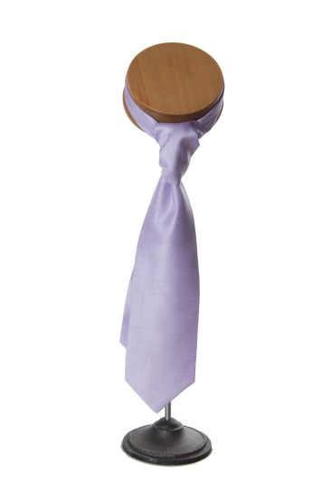 Lilac grooms wedding cravat