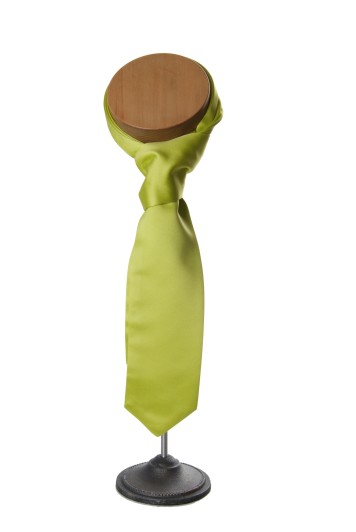 Lime green wedding cravat