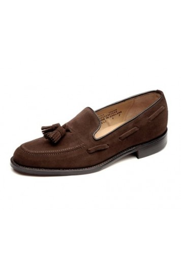 Loake Lincoln dark brown suede shoes