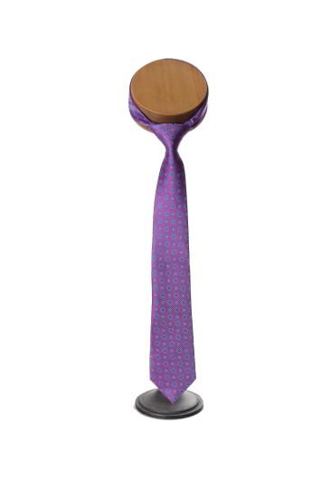 Magneta spot Grooms wedding tie