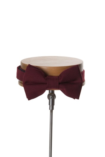 Ascot burgundy Grooms wedding bow tie