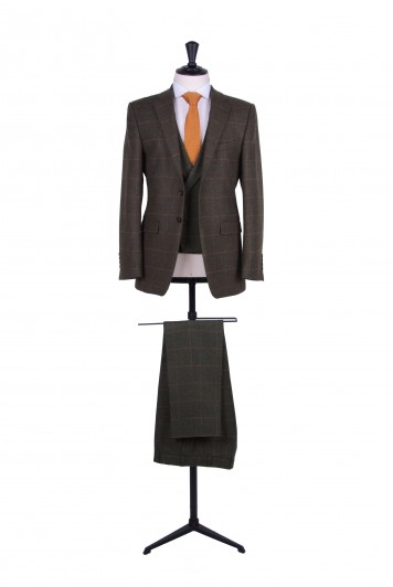 slim fit vintage tweed wedding suit hire