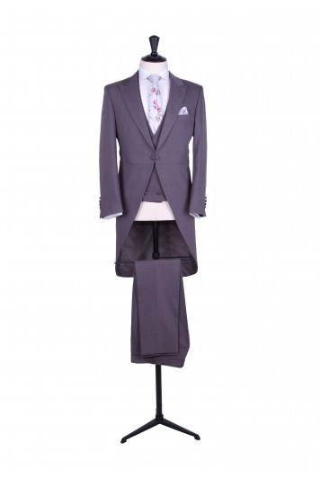 Slim fit grey wedding suit hire