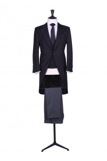 black slim fit hire suit
