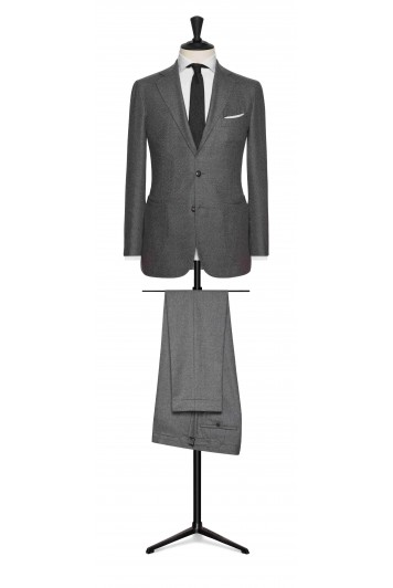 mid grey felted herringbone grooms wedding jacket
