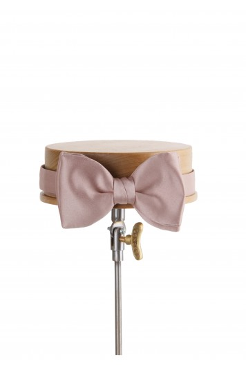 Mink satin Grooms wedding tie
