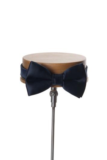 Navy wedding bow tie