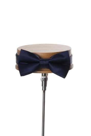 Grooms navy wedding bow tie