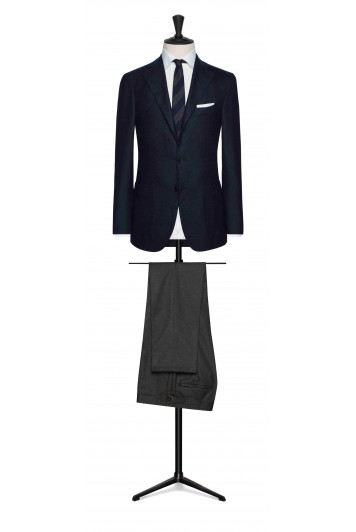 navy faux uni wool wedding sports jacket