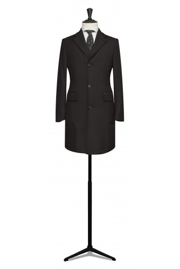 Black fine twill Loro Piana storm system raincoat