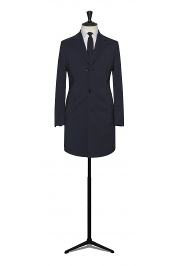 Navy Loro Piana storm system raincoat