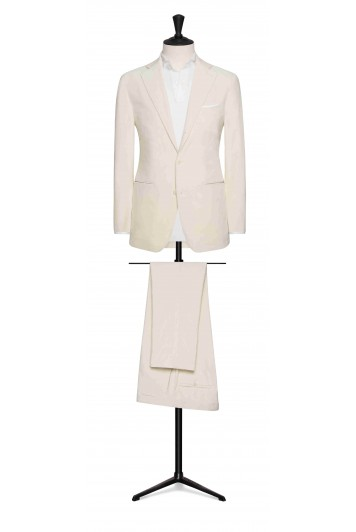 off-white fine corduroy wedding suit