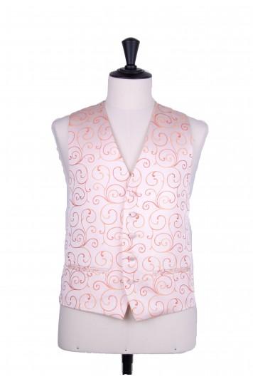 swirl orange wedding waistcoat