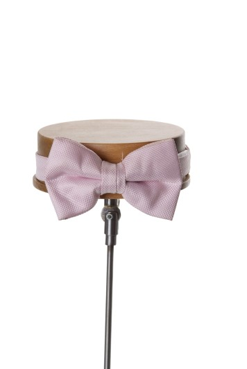 Pink textured wedding bow tie