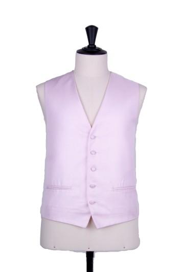 Pink wedding waistcoat Oxford weave