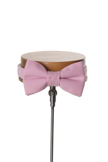Ascot pink classic wedding bow tie