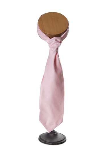 Pale pink grooms wedding cravat