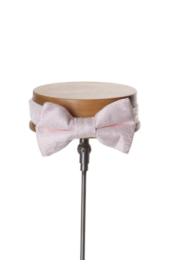 Grooms wedding bow tie pink paisley