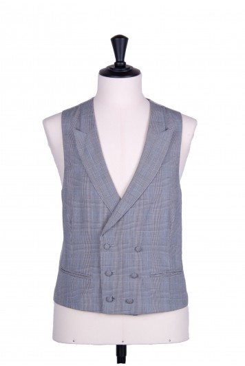 Prince of Wales double breasted wedding waistcoat