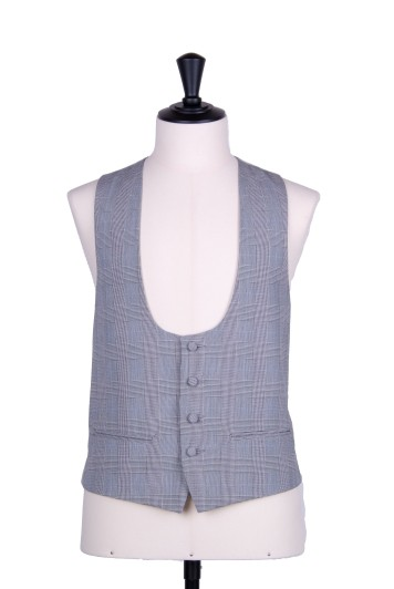 Prince of Wales scoop wedding waistcoat