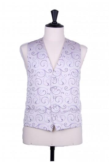 swirl purple lilac wedding waistcoat
