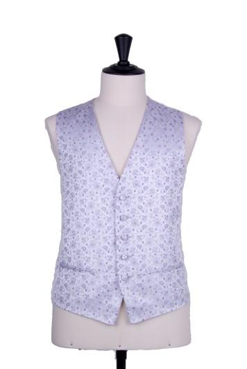 Purple lilac wedding waistcoat floral