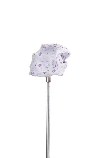 Purple floral wedding pocket square