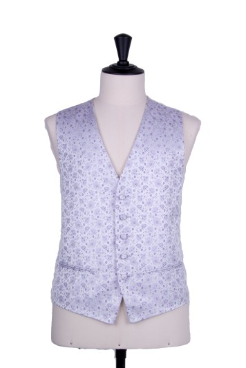 Purple lilac Grooms wedding waistcoat floral