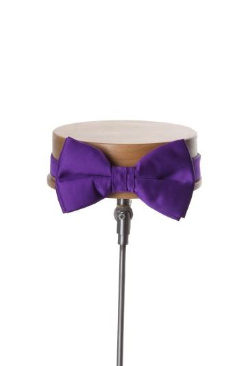 Purple wedding bow tie