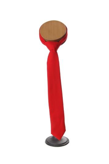 red wool Grooms wedding tie