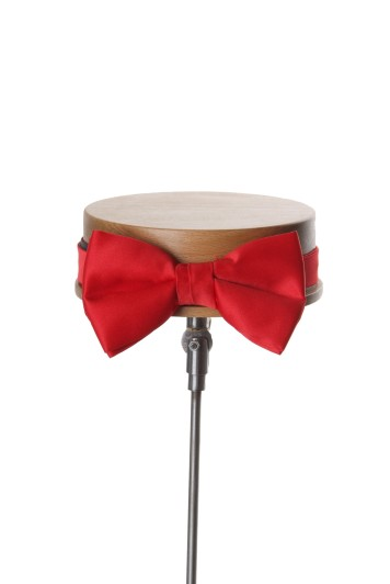 Red wedding bow tie