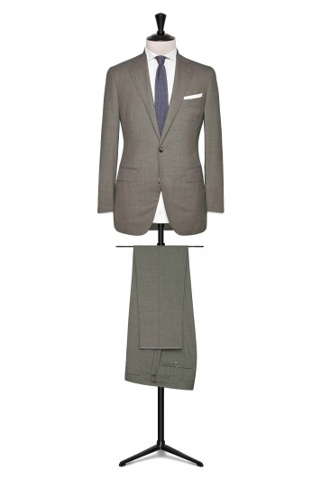 Brown-Grey tropical made to measure suit