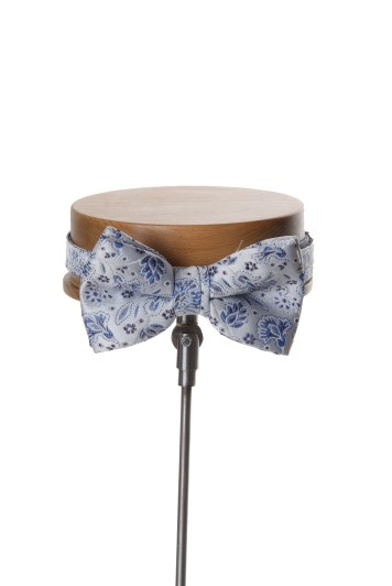 Royal blue GRooms wedding bow tie