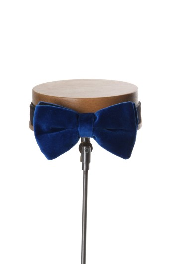Grooms wedding bow tie royal blue velvet