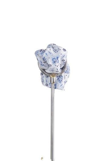 Royal blue floral wedding pocket square