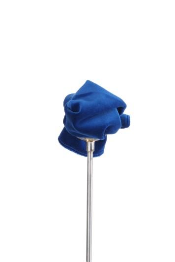 Royal blue velvet Grooms wedding pocket square