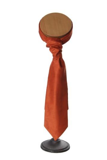 Burnt orange grooms wedding cravat