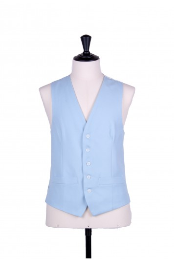 Ascot single breasted blue wedding waistcoat