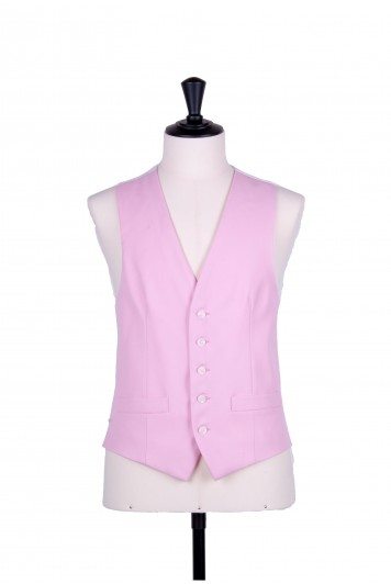 Ascot single breasted pink wedding waistcoat