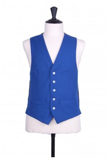 Ascot SB electric blue Grooms wedding  waistcoat