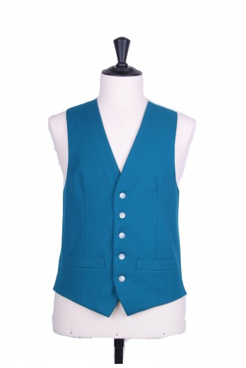 Ascot SB turquoise Grooms wedding waistcoat