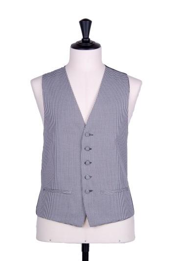 Black dogtooth single breasted wedding waistcoat