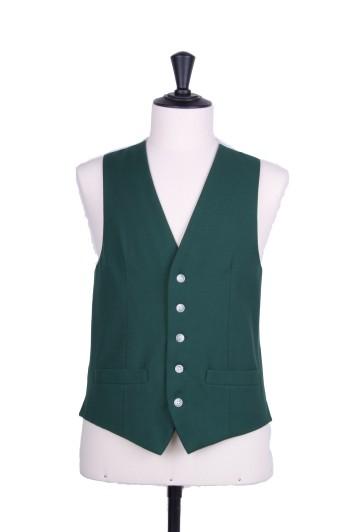 Ascot SB bottle green Grooms wedding waistcoat