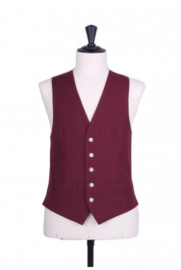 Ascot SB maroon Grooms wedding waistcoat