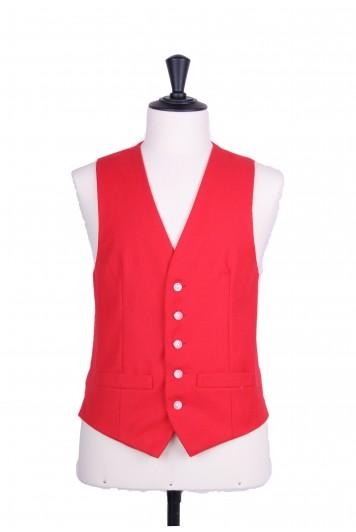 Ascot SB red Grooms wedding waistcoat