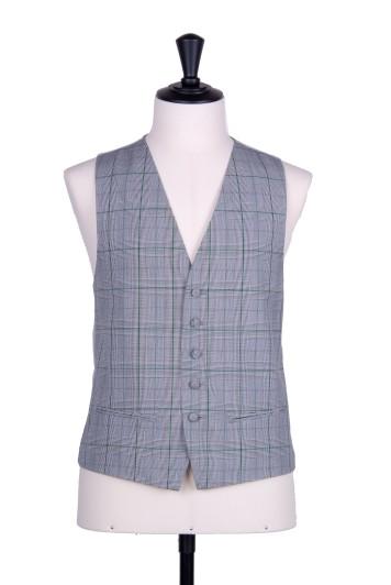 Prince of Wales green Grooms wedding waistcoat SB