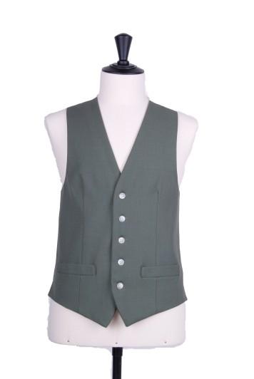 Lawn green Grooms wedding waistcoat SB
