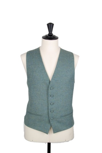 English tweed green Grooms wedding waistcoat