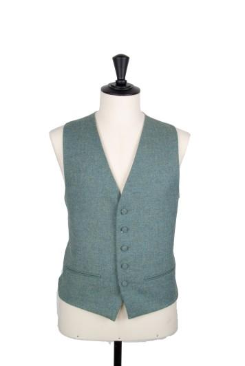 English tweed green Grooms wedding waistcoat