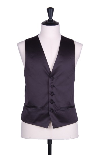 Black Duchess satin waistcoat